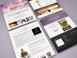 kurateo church website design